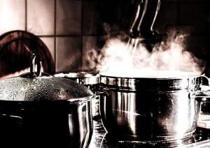 Kochen mit Dampf